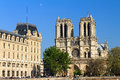 Notre-Dame Moon Afternoon Royalty Free Stock Photography - 68267697
