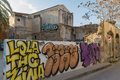 Street Art And Derelct Buildings- Old Nicosia City Centre. Royalty Free Stock Photos - 68279318