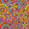 Floral Background Made Of Many Mandalas. Seamless Pattern. Good For Weddings, Invitation Cards, Birthdays, Etc. Creative Hand Draw Stock Photo - 68281010