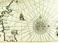 Antique Sea Map Or Chart Stock Images - 6839694