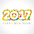 2017 Happy New Year Numbers Colorul Stock Photo - 68318690