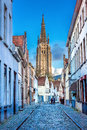 Tower Of The Church Of Our Lady Bruges Royalty Free Stock Images - 68351779