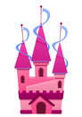 Illustration Of A Pink Colored Castle Royalty Free Stock Photography - 68374287