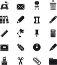 Office Supplies Icon Set Stock Images - 68375884