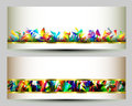 Colorful Web Banners Templates. Abstract Backgrounds Royalty Free Stock Photo - 68379575