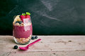Acai Berry Dessert With Copy Space Royalty Free Stock Images - 68389369