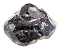 Black Spinel Mineral Gem Stone On Diopside Crystals Royalty Free Stock Images - 68396509