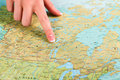 Map Of Canada In Atlas. Stock Photography - 68397922