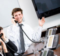 Businessman Calling On Phone Stock Image - 6841401