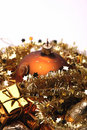 Golden Christmas Decorations Royalty Free Stock Photo - 6849105