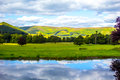 Beautiful Scottish Landscape With Hills And Water Stock Photos - 68405773