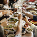 Brunch Choice Crowd Dining Food Options Eating Concept Stock Image - 68411401