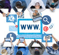 World Wide Web Internet Online Illustration Concept Royalty Free Stock Images - 68413449