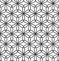 Vector Modern Seamless Geometry Pattern Flower Of Life, Black And White Abstract Stock Photo - 68418460