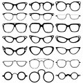 Glasses Model Icons, Man, Women Frames. Sunglasses, Eyeglasses  On White.  Royalty Free Stock Photos - 68420188