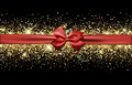 Festive Banner With Bow. Stock Photography - 68421082