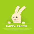 Rabbit Bunny Happy Easter Holiday Banner Greeting Card Green Background Stock Photography - 68424922