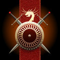 The Dragon Shield Royalty Free Stock Images - 68428139