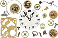 Spare Parts For Clock. Metal Gears, Cogwheels And Other Details Stock Photography - 68428812