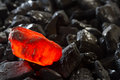 Red Hot Charcoal On Raw Coal Stock Image - 68451921