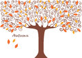 Graphic Image Collection Of Tree. Seasons. Autumn.  Illustration Royalty Free Stock Image - 68452596