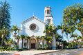 Historic Spanish Church In Santa Barbara, California Stock Images - 68464924