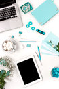 Still Life Of Fashion Woman,  Blue Objects On White Royalty Free Stock Photos - 68485948