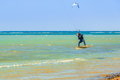 Kite Surfers At The Beach Of Red Sea Near Hurghada Royalty Free Stock Photography - 68491087