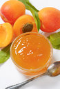 Fresh Apricots And Apricot Jam Stock Photos - 68491593