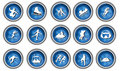 Winter Sport Icon Set Royalty Free Stock Photo - 6851205