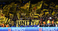 Borussia Dortmund Ultras With Flags Stock Images - 68511194