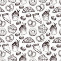 Hand Drawn Vector Illustration - Seamless Pattern With Sweet And Royalty Free Stock Photo - 68513855