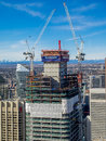 Brookfield Place Office Tower Under Construction Royalty Free Stock Images - 68547769