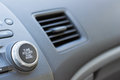 Vehicle Air Vent Opened On Passenger Side Showing Partial Dashbo Stock Photos - 68550833