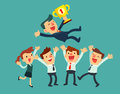 Business Team Celebrate Their Success Stock Images - 68563614