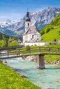 Church Of Ramsau, Nationalpark Berchtesgadener Land, Bavaria, Germany Royalty Free Stock Photo - 68576055