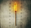Match Thermometer Royalty Free Stock Image - 68576886