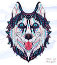 Patterned Head Of The Dog Husky Royalty Free Stock Image - 68585016