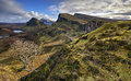 Quiraing Mountains In Isle Of Skye Royalty Free Stock Images - 68586129