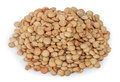 Lentils  On White Background Stock Photos - 68595543