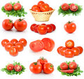 Set Of Red Ripe Tomatoes Stock Photo - 6868790