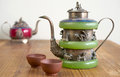Vintage Chinese Teapot Made Of Old Jade Royalty Free Stock Images - 68600309