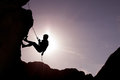 Silhouette Of Rock Climber Stock Image - 68602951