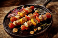 Barbecued Kebabs With Vegetables And Meat Royalty Free Stock Image - 68615206