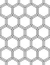 Vector Modern Seamless Geometry Pattern Hexagon, Black And White Abstract Royalty Free Stock Photos - 68617038