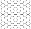 Vector Modern Seamless Geometry Pattern Hexagon, Black And White Honeycomb Abstract Royalty Free Stock Photo - 68617065