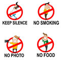 Prohibitory Signs In Cartoon Style Royalty Free Stock Photos - 68642188