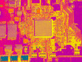 Infrared  Circuit Board Close Up With Microchips Royalty Free Stock Photo - 68643825