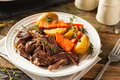 Homemade Slow Cooker Pot Roast Stock Photo - 68653640