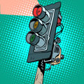 Red Traffic Light Stock Images - 68673184